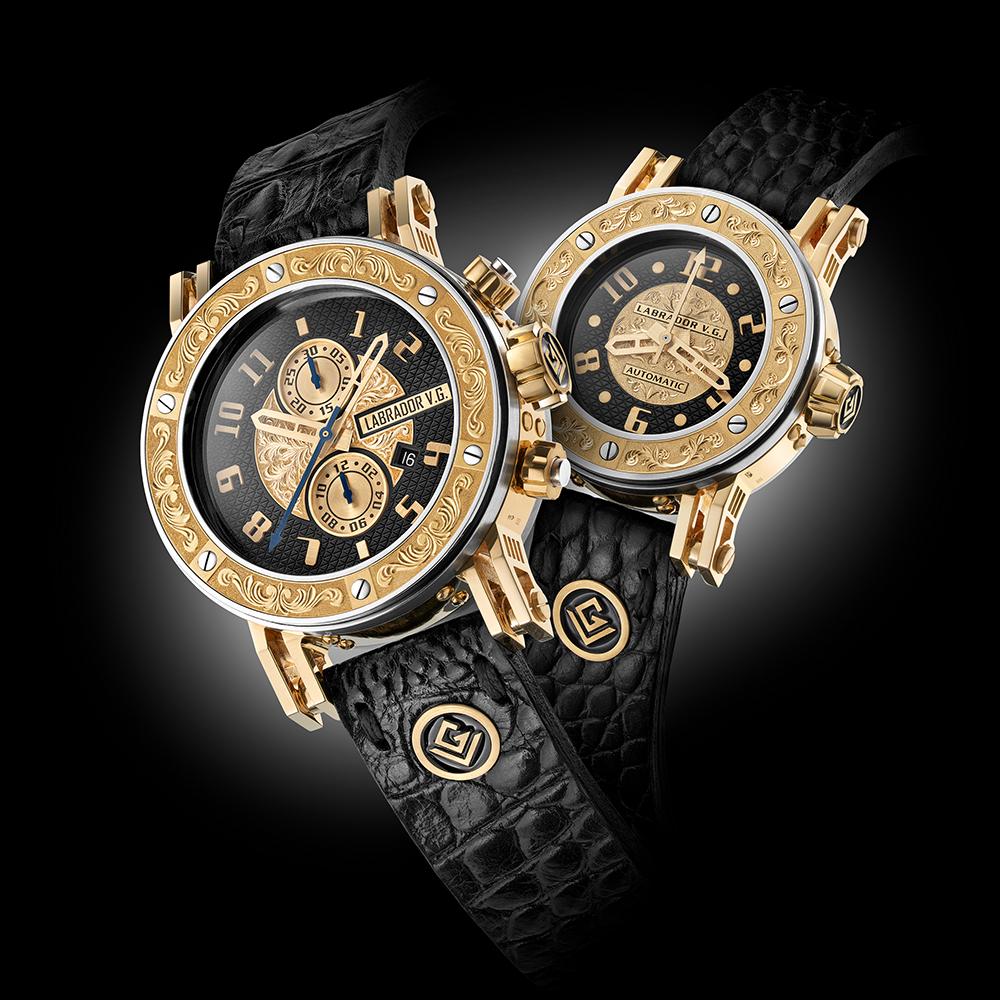 Мужские часы из золота и титана Labrador. Часы из драгоценных металлов.